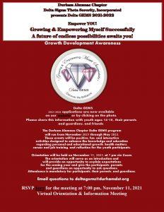 Durham Alumnae Chapter Delta Sigma Theta Sorority, Incorporated presents Delta GEMS 2021-2022
